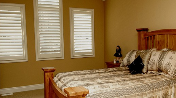 Custom window shutters in Toronto home